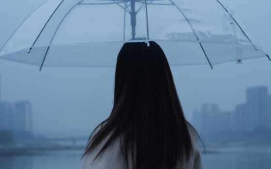 девушка, human, зонтик, заставка, под, айфон, photoshop, high, multicolored, облако