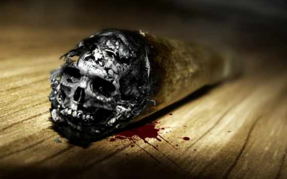 skull, smoking
