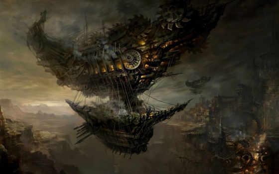 ship, torment, код, арт, ущелье, yuan, chang, город, tides, блога, дирижабль, за, красивые, то, numenera, можно, planescape, присоединился, роботів,