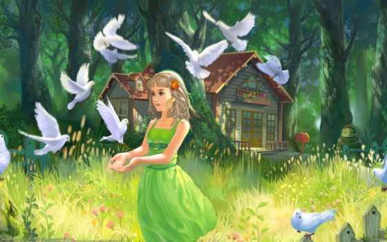 дети, голуби, голубей