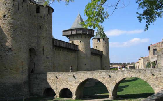 каркассон, carcassonne, франция, крепость, лангедок, европе,