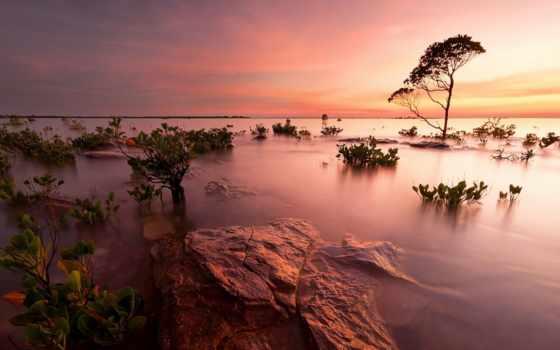 landscape, природа, закат, galaxy, pack, пляж, scenic, blue,