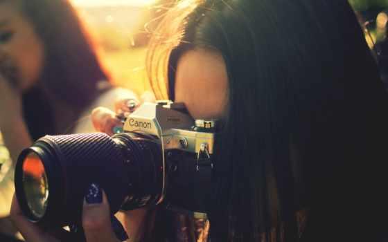 девушка, фотоаппарат, фото, фотограф, canon