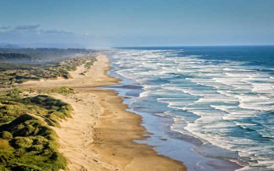 волны, ocean, landscape
