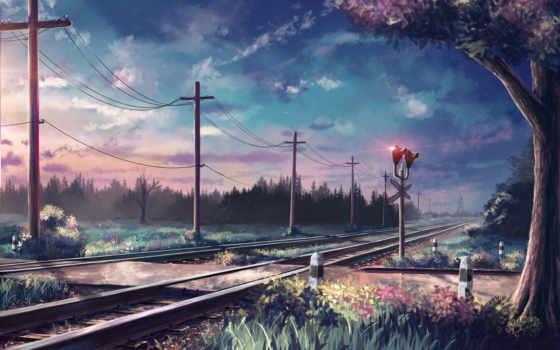anime, art, природа