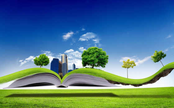 книга, природа, открытая
