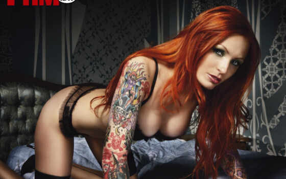 fhm, girls, celebrities, anne, lindfjeld, девушек, пикап, tattoos, татуировка,