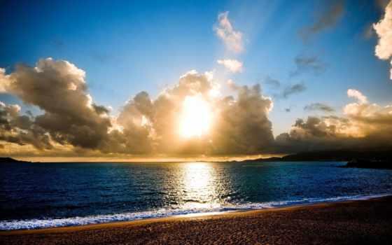 море, пейзажи -, ocean, water, пляж, широкоформатные, берег,