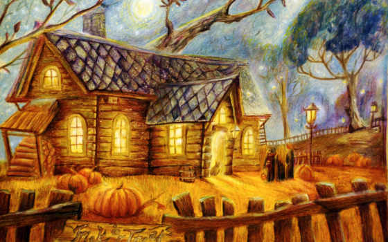 живопись, тыква, canvas, halloween, cheap, online, high, качество,