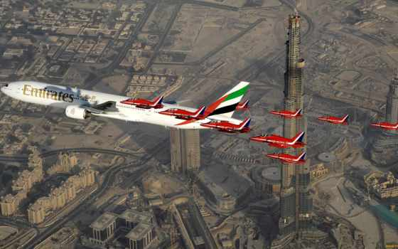 boeing, der, world, die, флот, emirates, airline, airlines,