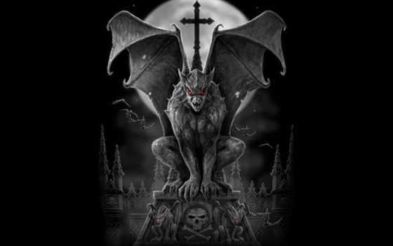 gothique, ecran, fonds, gothic, mystiques, mystérieux, les, halloween,