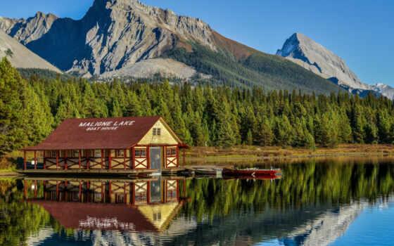 озеро, maligne, rockies, канада, канадский, louise, national, banff, jasper, park, cruise