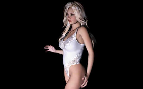 блондинка, графика