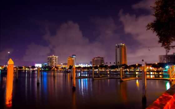 города, санкт, петербург, город, сша, городские, florida,