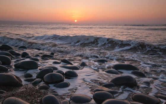 zen, горизонт, море, закат, ecran, волны, sxga, wide, widescreen, wuxga,
