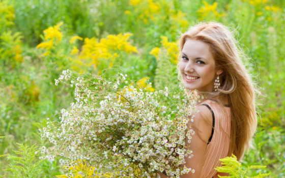 цветы, девушка, summer