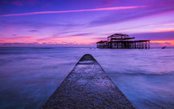 brighton, pier, море