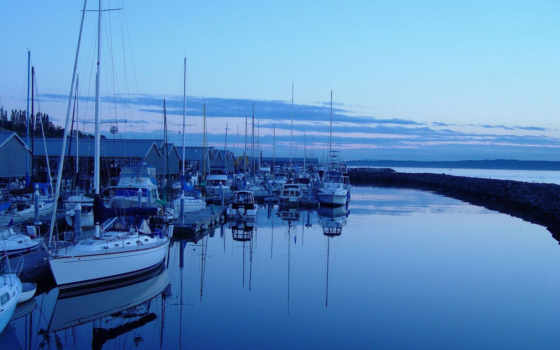 peaceful, nature, boats, desktop, washington, edmonds, resting,