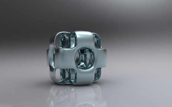 металлик, desktop, кубик