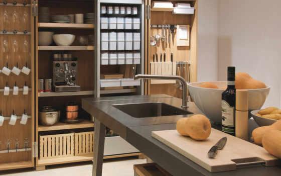 кухни, интерьера, мастерской