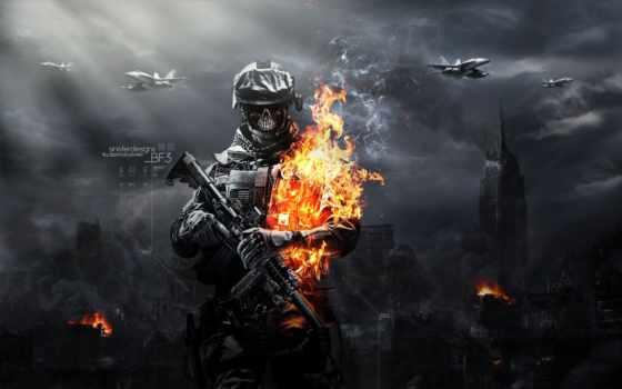 зомби, battlefield, zombies, солдат, огонь,
