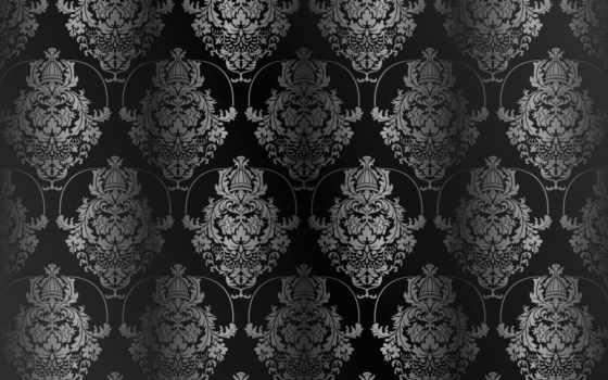 pattern, vintage, фон, black, текстура, вектор, dark, gradient, ретро,