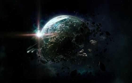 planet, cosmos, art, ткань, уничтожение, arte, planeta, лава, звезды,