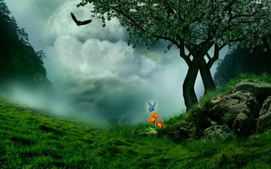 landscape, fantasy, фантастика