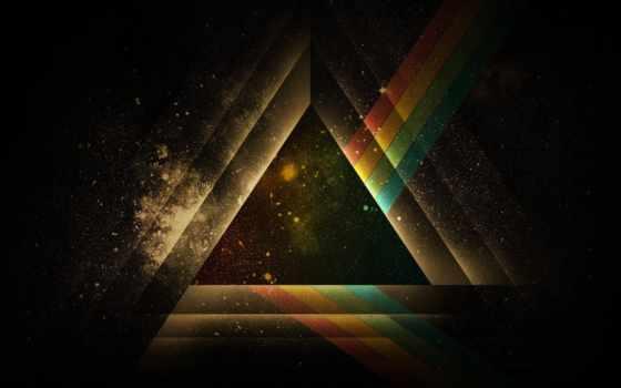 треугольник, рисунок, геометрия, black, свет, абстракция, графика, линии, color,