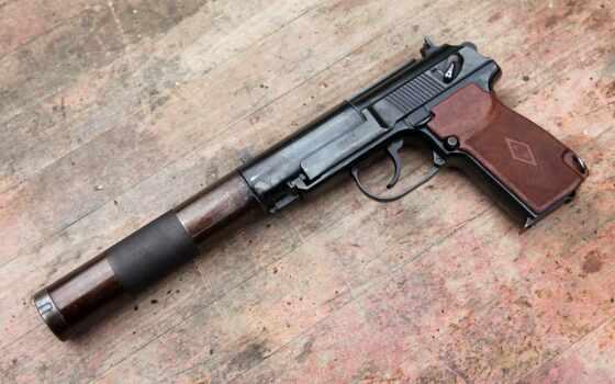 пистолет, макарова, пистолета, silent, мм, глушитель,