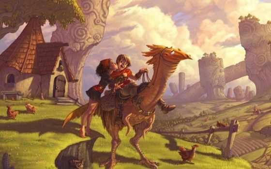 деревня, fantasy, девушка, поцелуй, boy, preview, дракон, popularity,