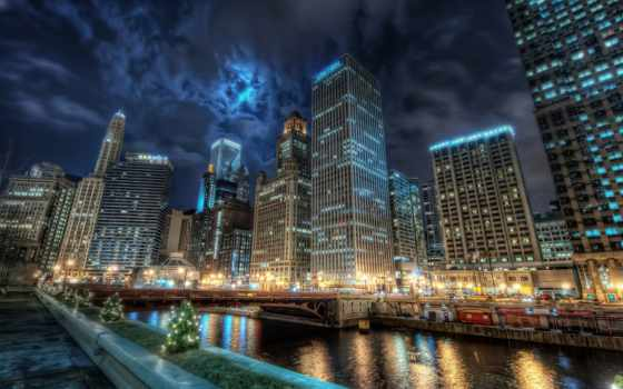 ночь, город, города Фон № 68157 разрешение 1920x1080