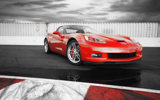 corvette, red, подборка