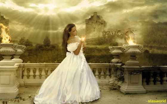 невеста, фэнтези, свадебный