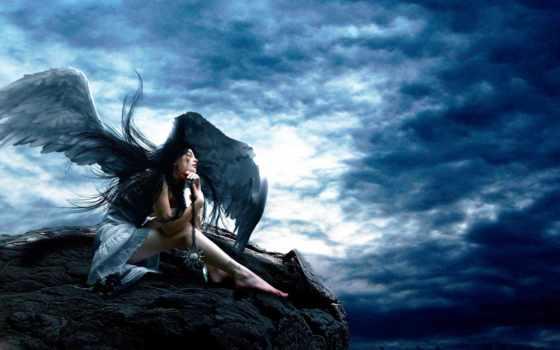 angel, девушка, взгляд