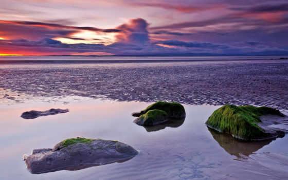 закат, море, ipad