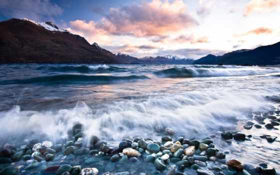 море, surf, горы, берег, ocean, landscape, красивые, пейзажи -, галереи,