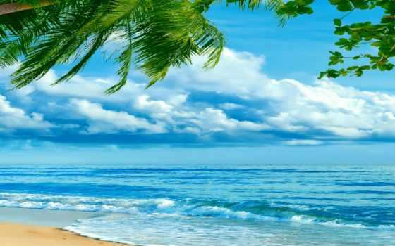 небо, море пляж
