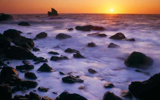 park, закат, titelbild, state, point, california, патрик, shoreline, miles, побережье