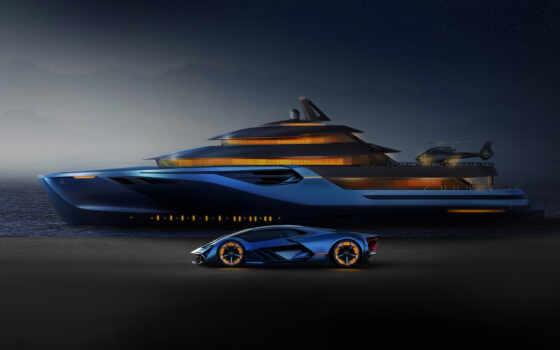 dark, яхта, concept, car