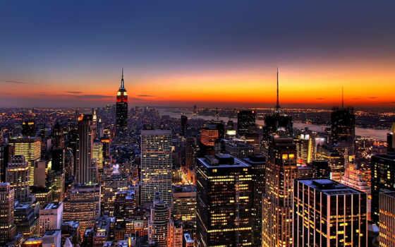 город, нью, york