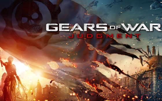 war, gears, judgment Фон № 119063 разрешение 3500x2188