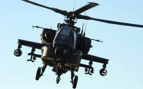 военный, вертолеты, apache