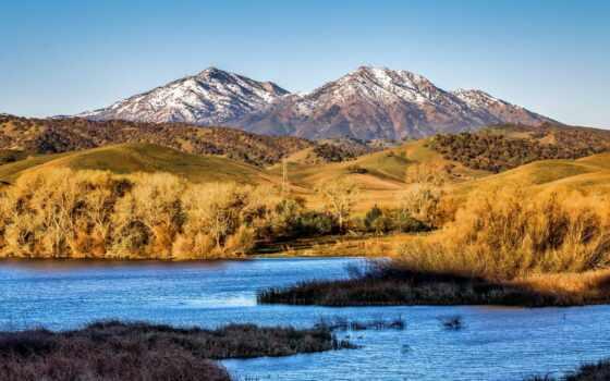 озеро, california, brentwood, print, качественные, landscape, free, туман, добавить, оригинал