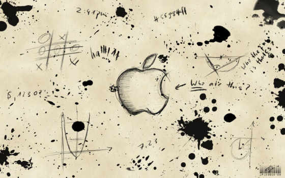 apple, надписи