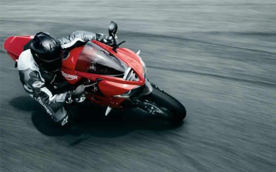 triumph, спорт, daytona, скорость, мотоцыкл, moto, человек, дорога, картинка, мотоцикл, байк, автомобили, машины,