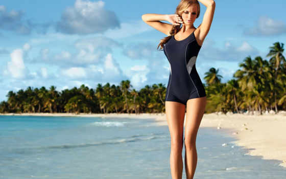ewelina, olczak, девушка, пляж, модель, прогулка, море, остров, купальник, картинка, небо, волны, облака, пальмы, вода, поза, фигура, тело, шатенка, лицо, деревья, взгляд, песок,
