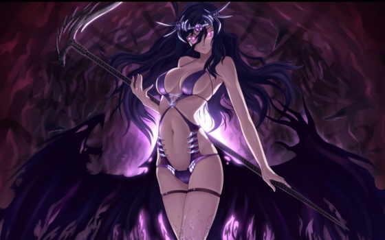 anime, девушка, демон