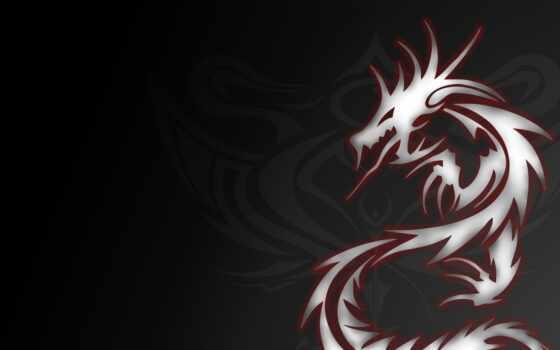 дракон, тату, абстракция