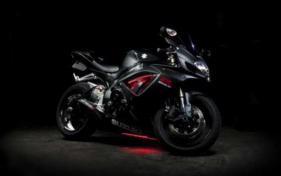 suzuki, gsx, мотоцикл, black, bike, neon,